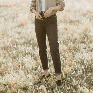 Levi's wedgie jeans in dark grey